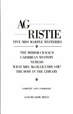 Agatha Christie, Five Miss Marple Mysteries