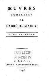 Oeuvres complètes de l'abbé de Mably: Volume9