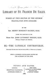 Library of St. Francis de Sales: The Catholic controversy