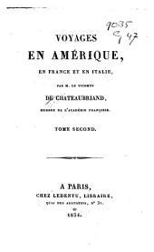 Voyages en Amérique, en France et en Italie: Volume2