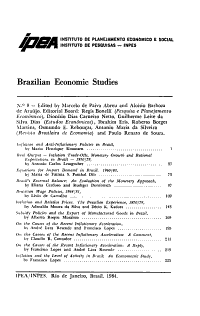 Brazilian Economic Studies PDF