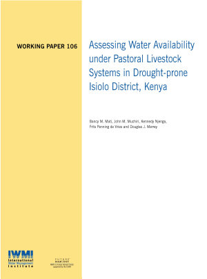 Assessing water availability under pastoral livestock systems in drought prone Isiolo District  Kenya
