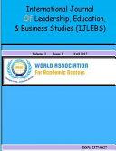 International Journal of Leadership Education and Business Studies PDF