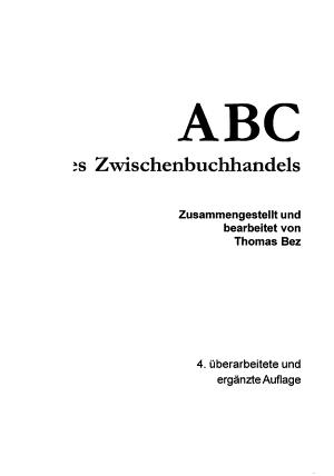 ABC des Zwischenbuchhandels PDF