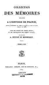 Collection des mémoires relatifs à l̓histoire de France...