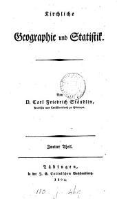 Kirchliche Geographie und Statistik: Band 1