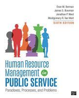 Human Resource Management in Public Service PDF