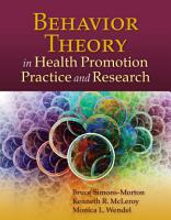 Behavior Theory in Health Promotion Practice and Research PDF