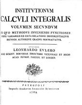 Institutionum calculi integralis: Volume 2