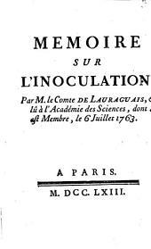 Mémoire sur l'inoculation