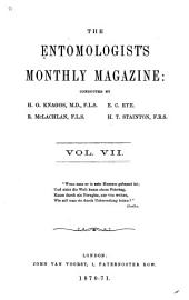 The Entomologist's Monthly Magazine: Volume 7
