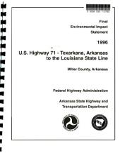 US Highway 71- Texarkana to the Louisiana State Line, Miller County: Environmental Impact Statement
