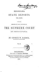 Pennsylvania State Reports: Volume 23