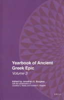 Yearbook of Ancient Greek Epic PDF