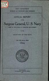 Annual report of the Surgeon General, U.S. Navy ...
