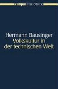 Volkskultur in der technischen Welt PDF