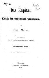 Das kapital: Kritik der politischen Oekonomie, Band 1