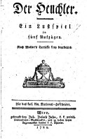 Der    Heuchler  ein Lustspiel in 5 Aufz  nach Molieres Tartuffe frei bearb PDF