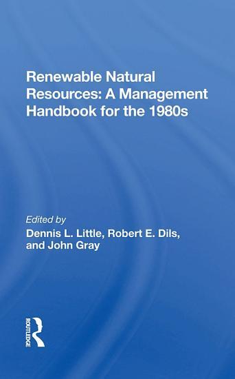 Renewable Natural Resources PDF