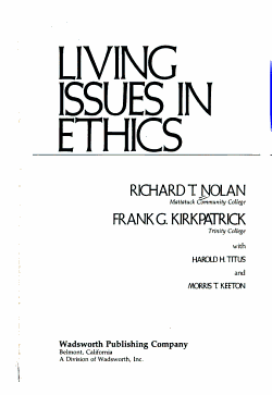 Living Issues in Ethics PDF