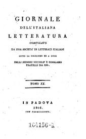 Giornale dell'Italiana letteratura: Volume 20