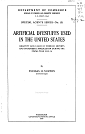 Artificial Dyestuffs Used in the United States