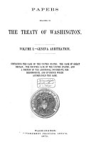 Papers Relating to the Treaty of Washington PDF
