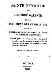Sainte Nitouche ou histoire galante de la tournière des Carmelites: suivie de l'histoire de La Duchapt, célèbre marchande de modes : 6 gravures