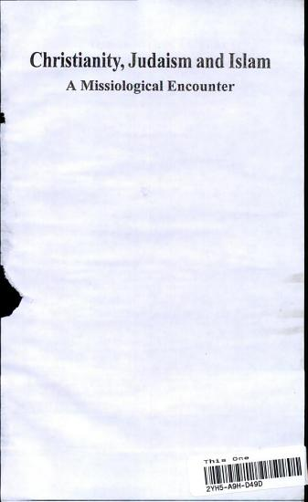 Christianity  Judaism  and Islam PDF