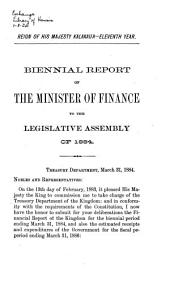 Report of the Minister of Finance