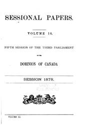 Sessional Papers of the Dominion of Canada: Volume 10; Volume 11, Issue 10