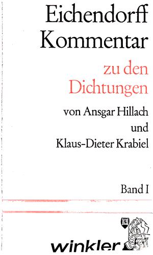 Eichendorff Kommentar  Zu den Dichtungen PDF