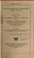 Hearings  Reports and Prints of the House Committee on Armed Services PDF