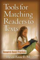 Tools for Matching Readers to Texts PDF