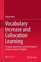 Vocabulary Increase and Collocation Learning PDF