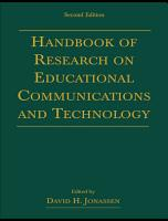 Handbook of Research for Educational Communications and Technology PDF