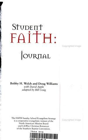 Student Faith Journal