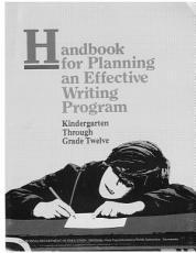 Handbook for Planning an Effective Writing Program  K 12 PDF