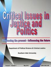 Critical Issues in Justice and Politics V6N1 PDF