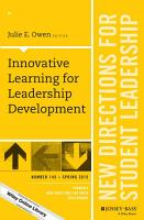 Innovative Learning for Leadership Development PDF