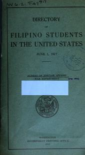 Directory of Filipino Students in the United States