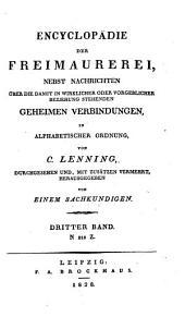 Encyclopädie der Freimaurerei: Band 3