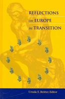 Reflections on Europe in Transition PDF