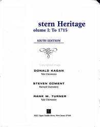 The Western Heritage To 1715 Book PDF