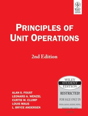 Principles Of Unit Operations 2nd Ed