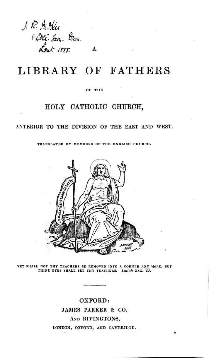 The Homilies of S. John Chrysostom