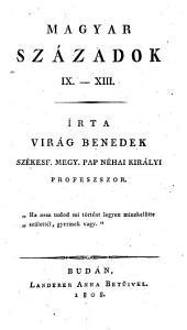Magyar századok: 1. kötet
