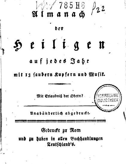 Almanach der Heiligen auf jedes Jahr PDF