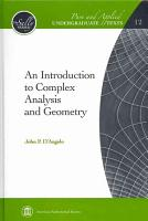 An Introduction to Complex Analysis and Geometry PDF