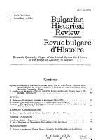 Bulgarian historical review PDF